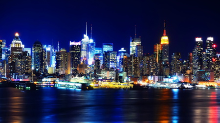 Manhattan, New York (HDR) - colorful, beautiful, eye candy, hdr, manhattan, new york, glory park