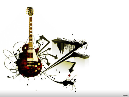 Feel The Music - abstract, music, guitar