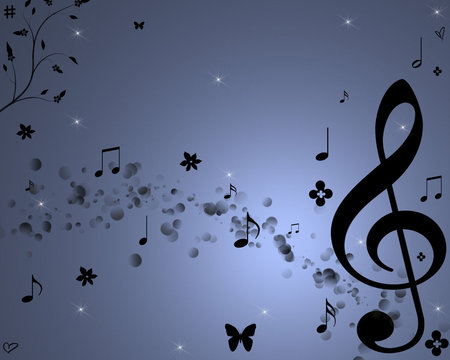 Sweet Melody - music notes, abstract, music, melody