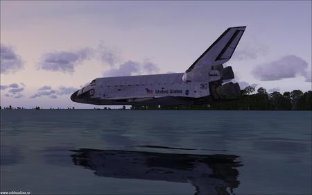 hight landing of shuttles - space, nasa, shuttles, planets, galaxies, moons