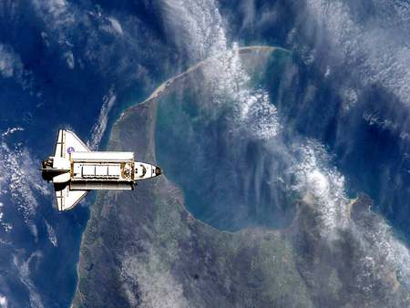 the space shuttle - space, nasa, shuttles, stars, galaxies