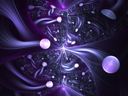 Power of purple 3d and cg abstract background for Sfondi hd viola