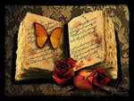 Book , flower , poems