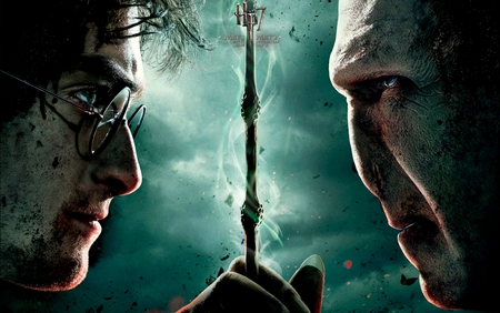 Harry Potter and the Deathly Hallows Part 2 - movie, eldar wand, harry potter, deathly hallows, voldemort, hp7 part 2