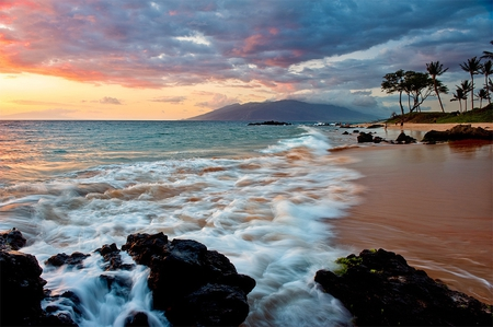 wailea beach maui beaches nature background wallpapers