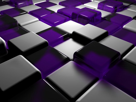 purple & white cubes - 3d and cg & abstract background wallpapers