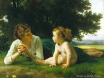 Mother and her son * Bouguereau, Adolphe William