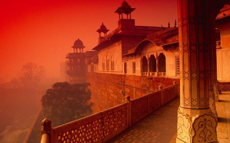 incredible - temple, india, peaceful, photography, building, red, beauty, beautiful, orange, manmade