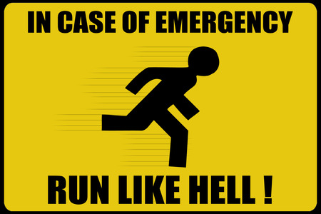 Warning Sign 2 - sign, hell, emergency, yellow, warning sign, warning, funny, warning-sign, text