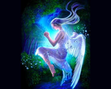 Angel - girl, light, angel, color, fantasy