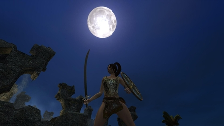 Age of Conan - hd 1080p, age of conan, shot, game, blue, conan, hdtv 1080p, full moon, dark, dark age, rpg, print