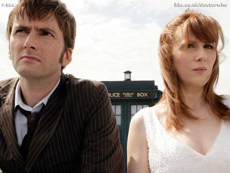 The Doctor and Donna Noble - doctor who, tardis, donna noble, david tennant