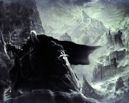 Arthas - fantasy, arthas, king, dark, mountain, games, art, beautiful, amazing