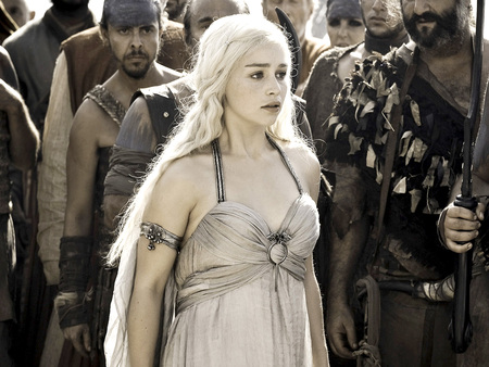 Daenerys Targaryen - people, celebrity, beautiful, emilia clarke, game of thrones, daenerys targaryen, british, tv series, actresses, entertainment, dress