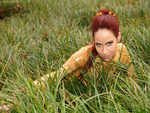 Bianca in grass