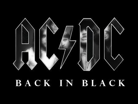 AC/DC - Back in Black - black, back, band, heavy, logo, acdc, metal, music, rock