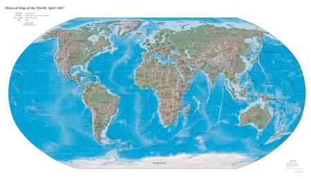 Physical Worldmap - physical worldmap, map, earth map, xxl, physical, worldmap