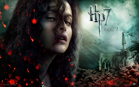 Bellatrix - harry potter, deathly hallows, it all ends, hogwarts, part 2, hp7