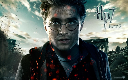 Harry - harry potter, deathly hallows, it all ends, hogwarts, part 2, hp7
