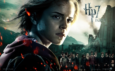 Hermione - hp7, deathly hallows, harry potter, it all ends, part 2, hogwarts
