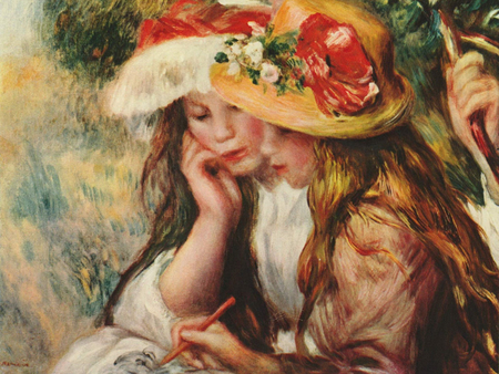 Renoir French Impressionist painting - children, beautiful, french painters, painting, art