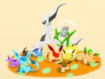 arceus and the eveelutions