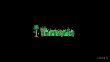 Terraria - minecraft, wallpaper, terraria, black