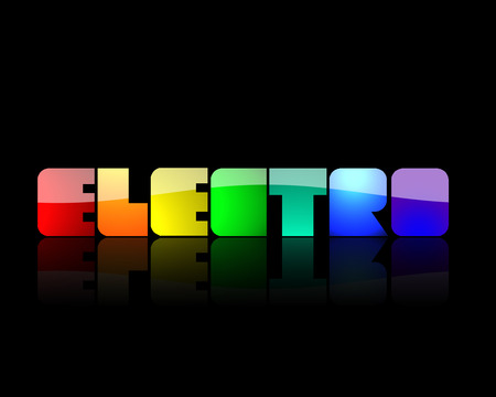 Electro Wallpaper - green, orange, black, abstract, blue, yellow, purple, electro, 3d, red, music, rainbow