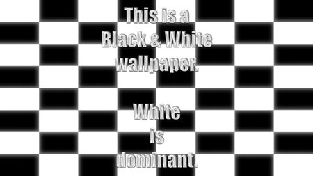 black and white wallpaper - cool, fun, mind, black, black and white, teaser, funny, wallpaper, nice, square, awesome, white