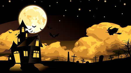 Halloween 2 - moon, clouds, night, october, season, lbeautiful, witch, halloween, beautiful