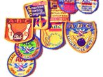 vintage bowling badges