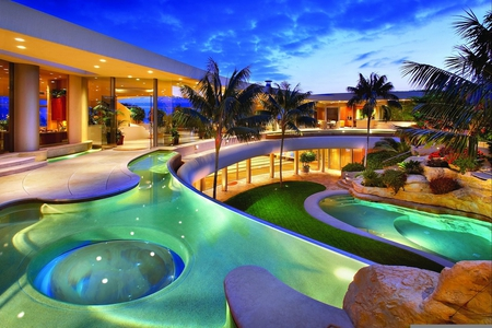 Luxury homes modern architecture background wallpapers on desktop nexus image 734204 - Luxury house wallpaper ...
