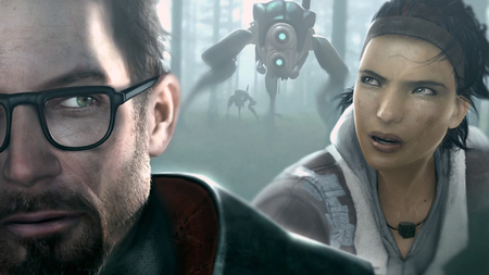 Half Life - cool, freeman, future, gordon, robots, game, alex, pc, video game, sci-fi, half life, nice, awesome, video, half, life