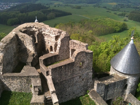 nurburg castle - top, nurburg, nurburgring, castle, panorama