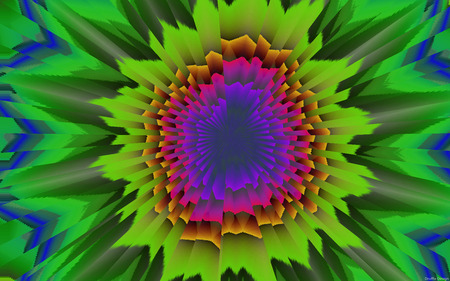 Optical Confusion (5) - confusion, optical confusion, flower power, abstract, waves, colors, art, vibes, minds, illusion, mindteaser, widescreen, druffix design, chaos, psycho