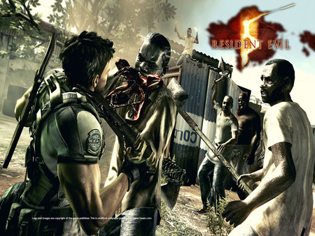A little help here! - resident evil 5, zombie, chris redfield, resident evil