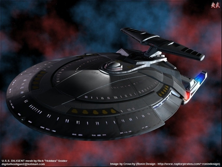 uss ronin - starship, aliens, star trek, scifi