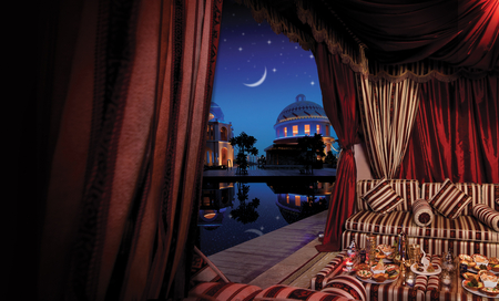 Ramadan Venues & Timings - 1001 nights, moon, arabic style, ramadan, night