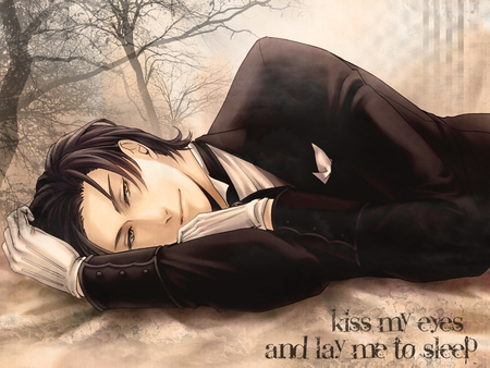 Restful Moment - rest, time, kuroshitsuji, moment, faustus, claude, hot, anime