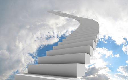 Stair to Heaven - clouds, heaven, stair, sky, white