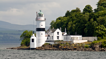 Cloch-River-Clyde-lighthouse - land, water, lighthouse, light
