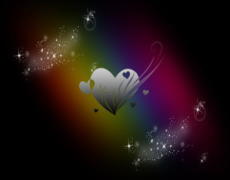 Rainbow Love - 3D and CG & Abstract Background Wallpapers ... Abstract Love Desktop Wallpaper