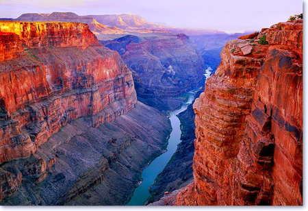 The grand Grand Canyon - grand canyon, river, sunlight, rock, beauty