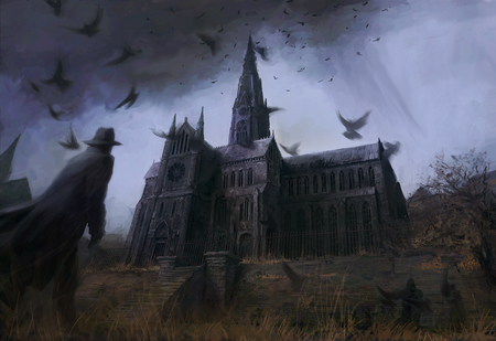Masters Home - fantasy, halloween, scary, dark, artistic