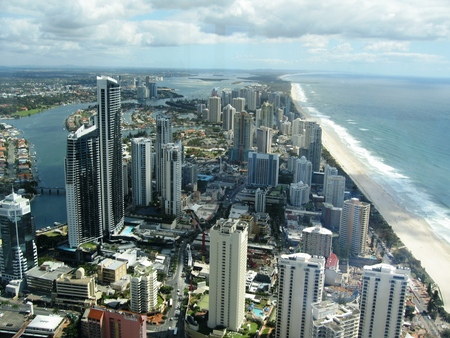 Australien Gold Coast - skyscrapper, air view, australien, sky, coast, gold coast