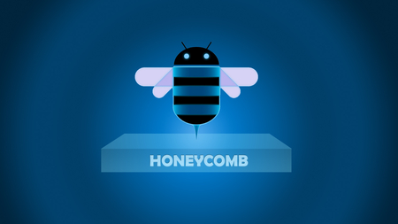 Honeycomb box - logo, os, honeycomb, android