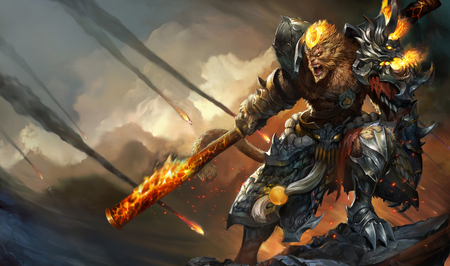 League of Legends - General Wukong Chinese Splash Art - wukong, chinese splash art, general, league of legends