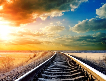 Railroad - technology, railroad, beautiful, other
