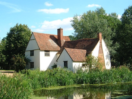 Willie Lott's Cottage - constable, artist, john, lott, painting, cottage, willie, suffolk, famous