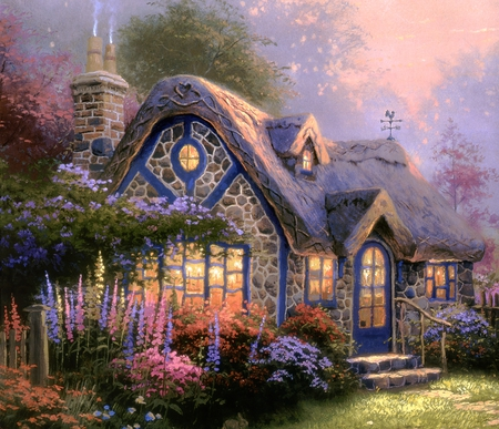 cottage fantasy amp abstract background wallpapers on